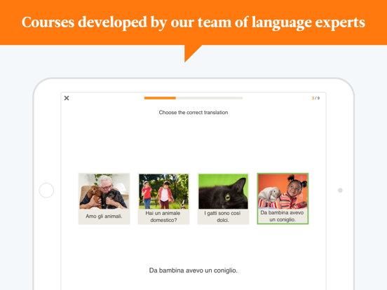 Learn Spanish, English, French, Italian, German and many more languages with Babbel screenshot