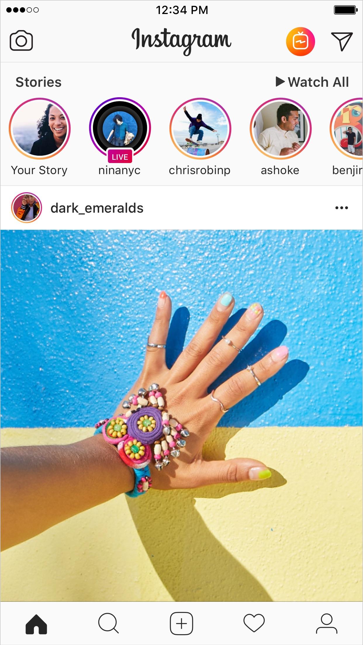 Screenshot do app Instagram