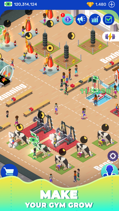 Idle Fitness Gym Tycoon - Game screenshot 4
