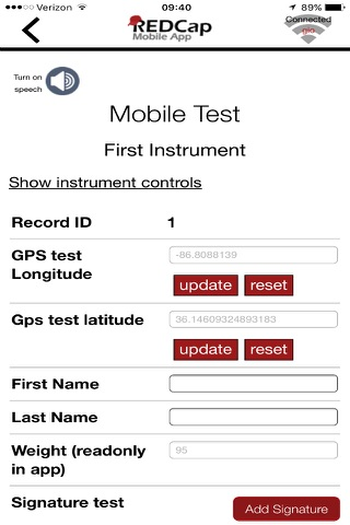 REDCap Mobile App - náhled