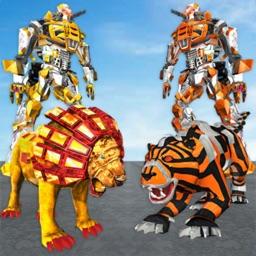 Robot Lion Vs Tiger Robot