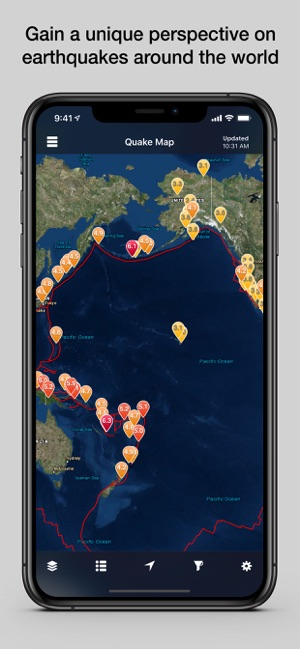 QuakeFeed Earthquake Alerts on the App Store