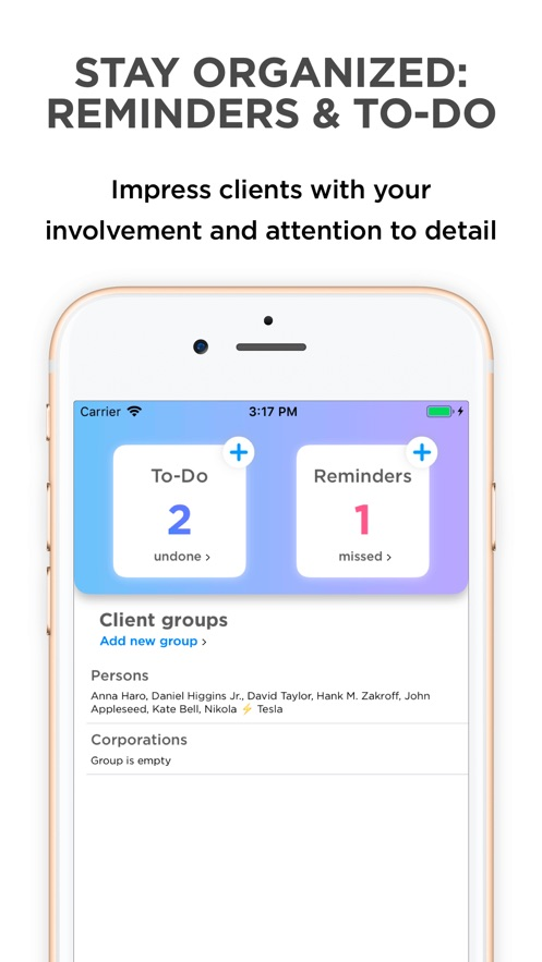 Clients — your client database App 截图