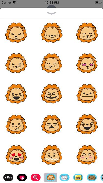 Lion cute emoji
