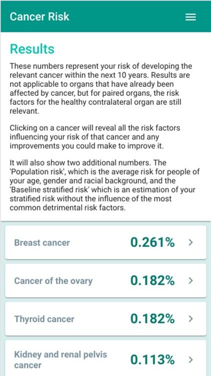 Cancer Risk Calculator