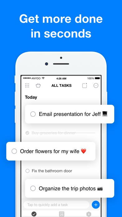 Any.do: To-do list & Tasks Screenshot on iOS