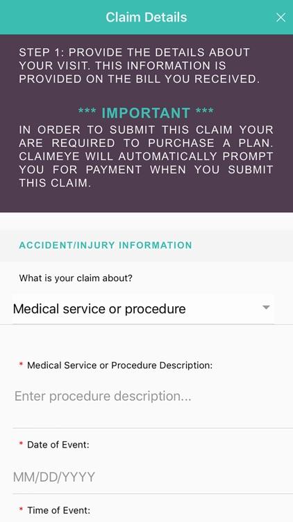Claimeye- Medical Claims screenshot-6