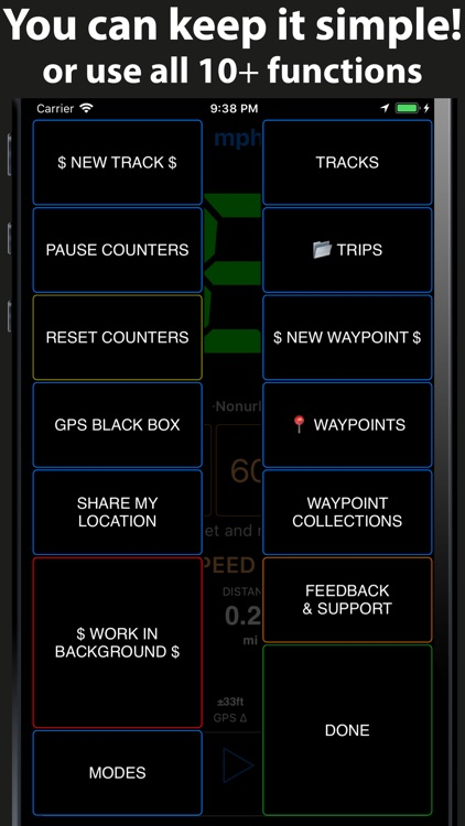 Speedometer 55 GPS Speed & HUD screenshot-4