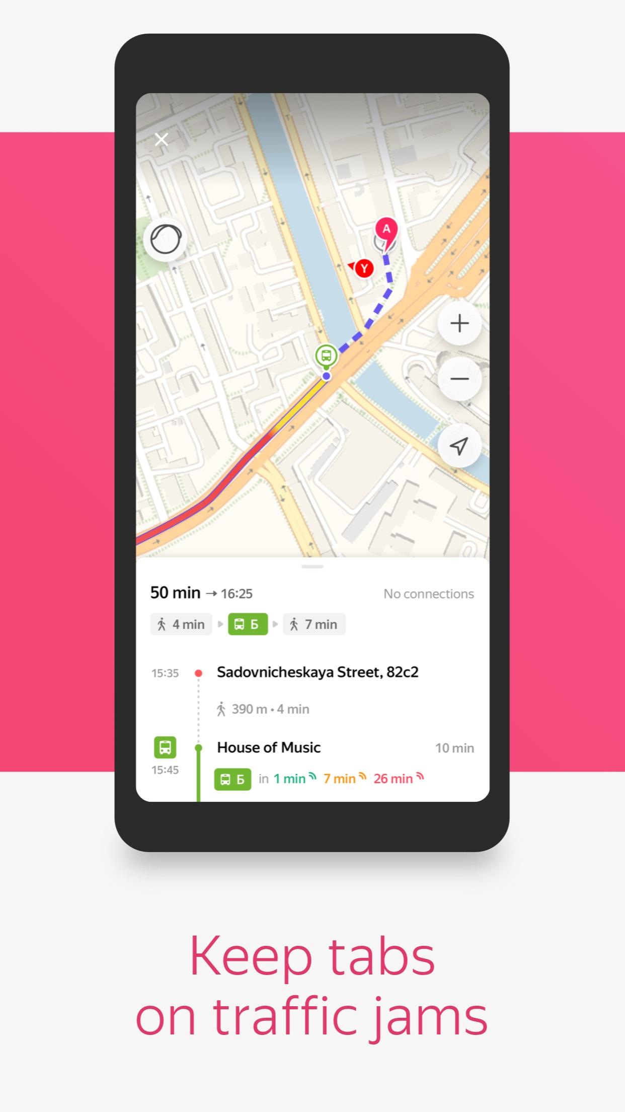 Yandex.Transport – Bus finder Screenshot