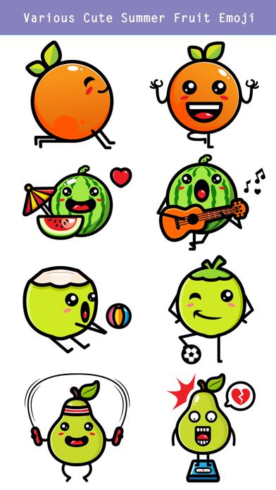 174 Cute Emoji - Summer Fruits screenshot 3