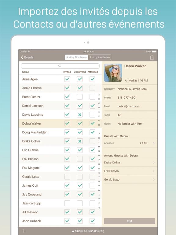Screenshot #5 pour Guest List Organizer Pro