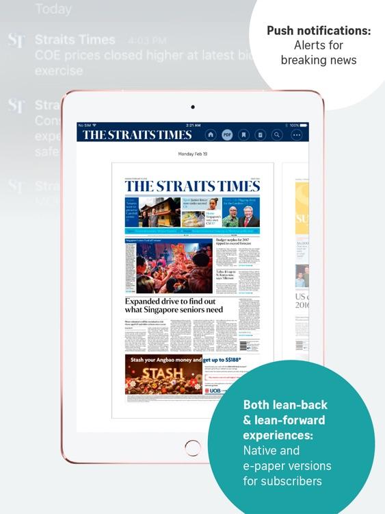 The Straits Times for iPad screenshot-3