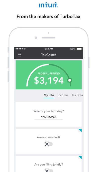TaxCaster: Tax Calculator by Intuit Inc  (iOS, United States