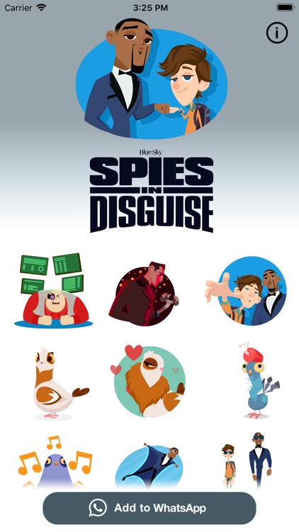 Spies in Disguise Stickers