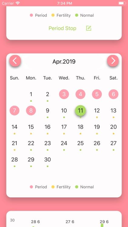 MMD Period Tracker Calendar