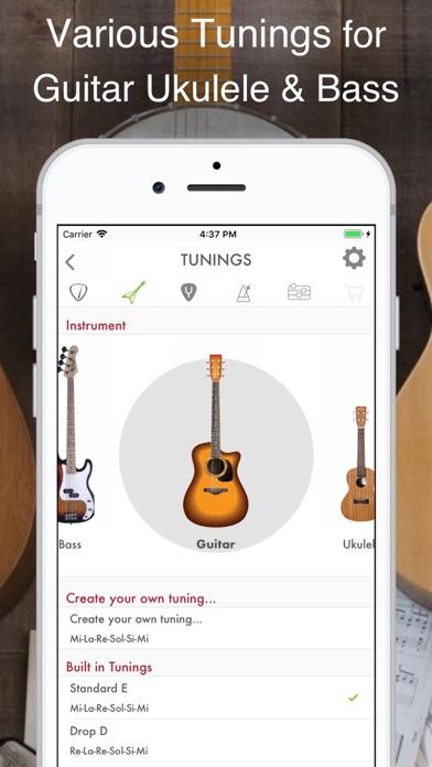 Guitar, Bass and Ukulele Tuner screenshot two