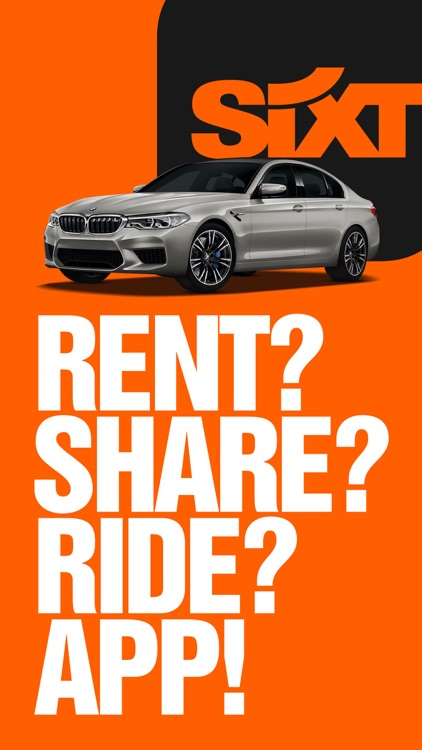 SIXT rent, share & ride screenshot-0