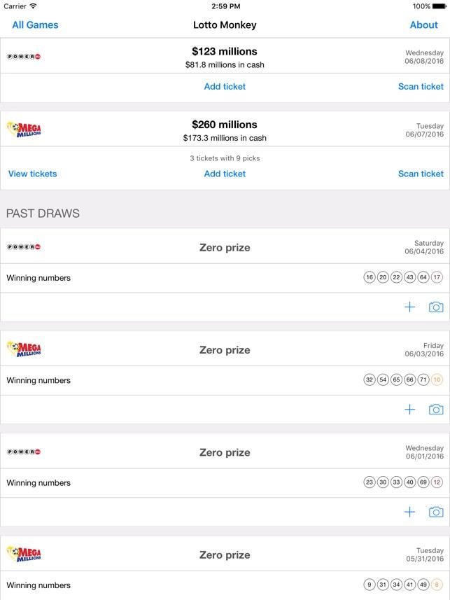LottoMonkey: Scan Lottery on the App Store