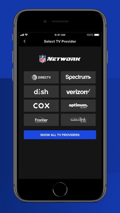 NFL Network Screenshot on iOS