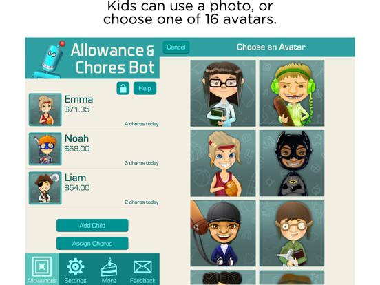 Allowance & Chores Bot screenshot