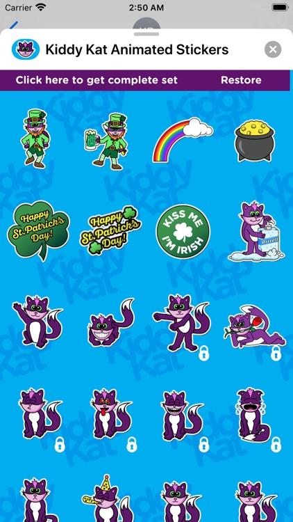 Kiddy Kat Animated Stickers screenshot-3