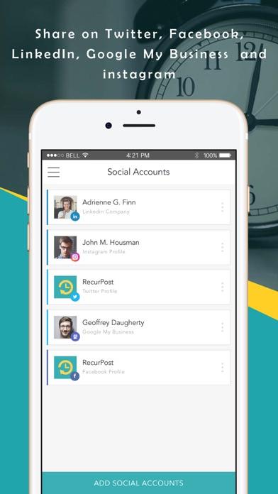 RecurPost - Social Media App screenshot four