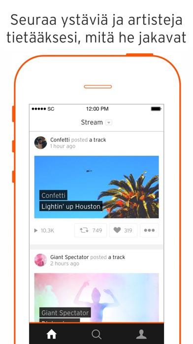 Screenshot for SoundCloud - Musiikki & Ääni in Finland App Store