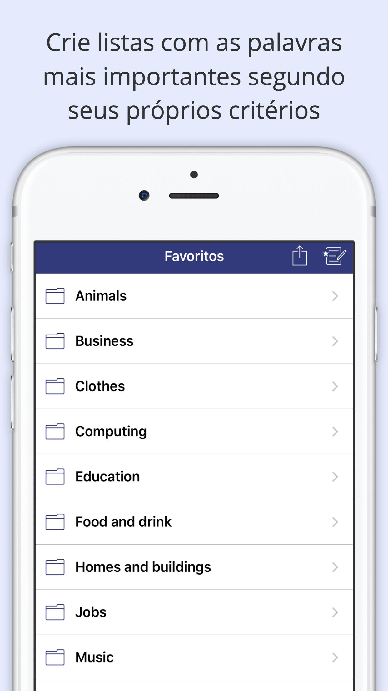 Screenshot do app Oxford Learner's Dictionaries