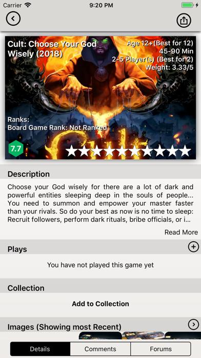 BGG BoardGames Information screenshot four