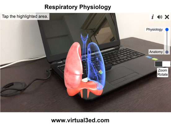 AR Respiratory system physiolo screenshot 12