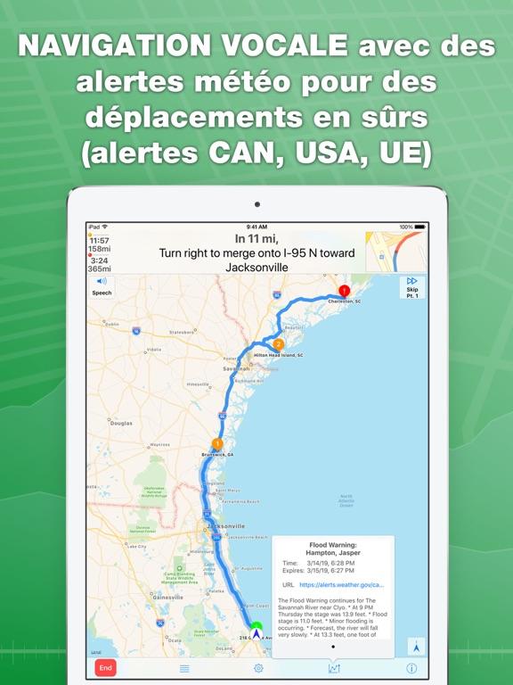 Screenshot #6 pour inRoute planificateur de route