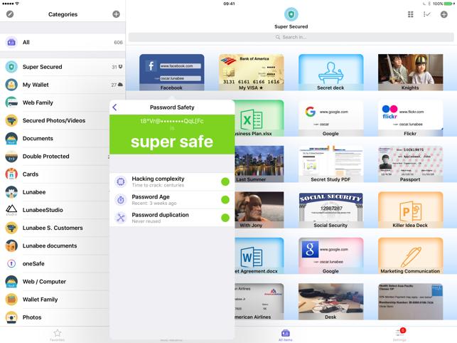 oneSafe password manager Screenshot