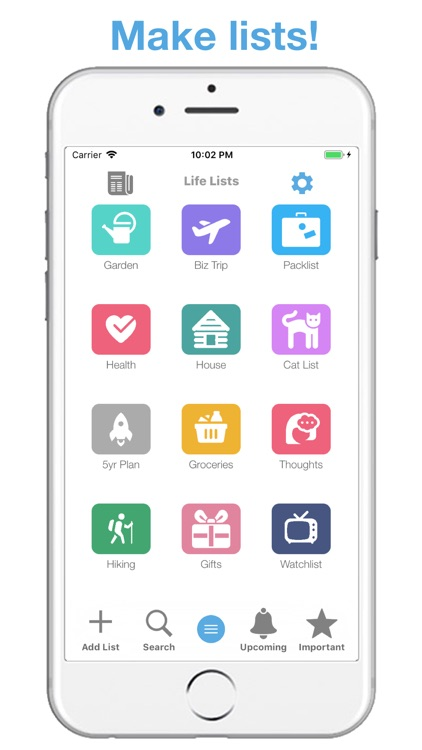 Life Lists: List Organizer screenshot-0