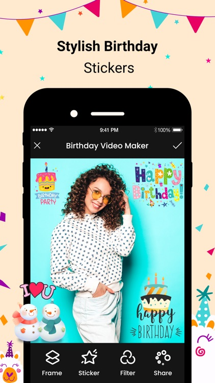 Birthday Movies Maker Song screenshot-3