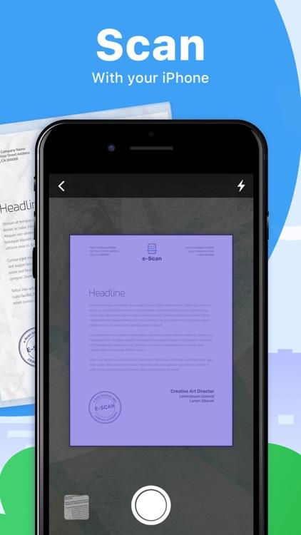 e-Scan: PDF Docs Scanner App screenshot-0