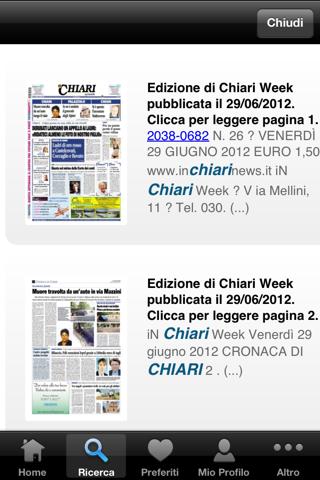 Chiari Week Edicola Digitale - náhled