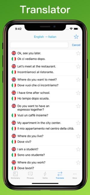 Italian Translator + on the App Store