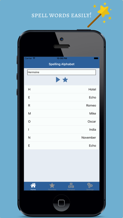 NATO Phonetic Alphabet screenshot one