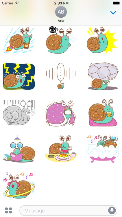Lovely Colorful Snail Sticker screenshot-3
