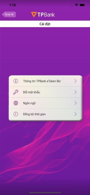 TPBank eToken Biz