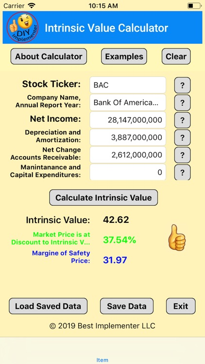 Intrinsic Value Calculator DIY screenshot-7