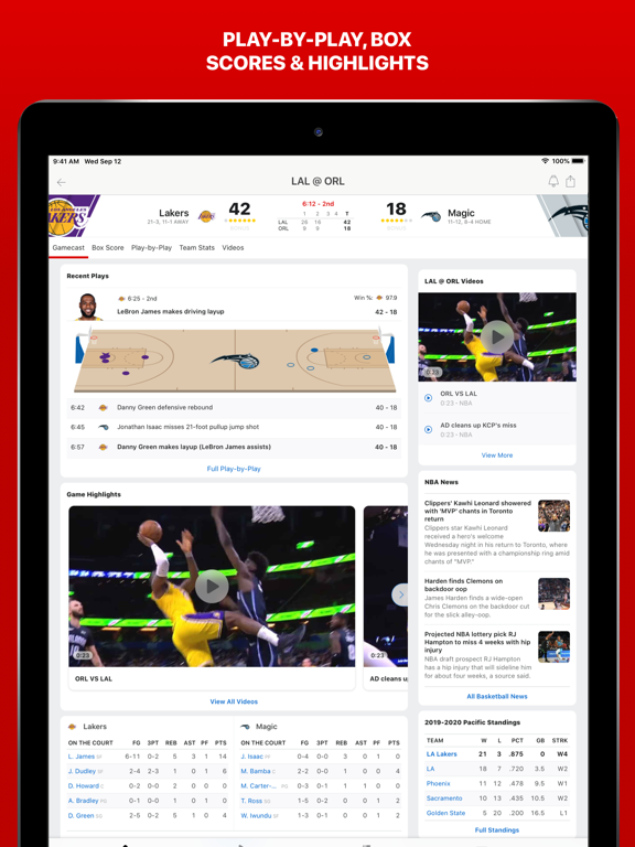 iPad Image of ESPN: Live Sports & Scores