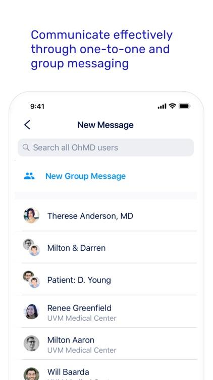 OhMD HIPAA Compliant Texting screenshot-4