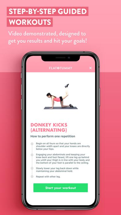 Flat Tummy App: Female Fitness Screenshot