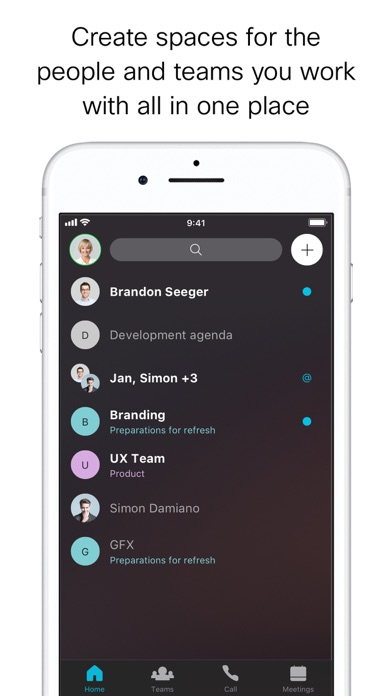 Cisco Webex Teams by Cisco (iOS, United States) - SearchMan App Data