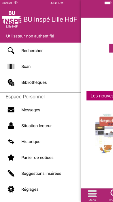 BU INSPÉ Lille HdF screenshot 2