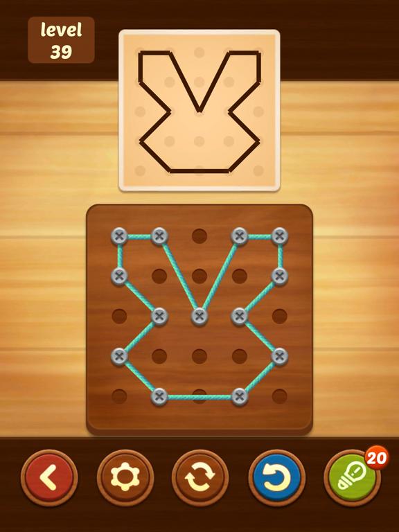 iPad Image of Line Puzzle: String Art