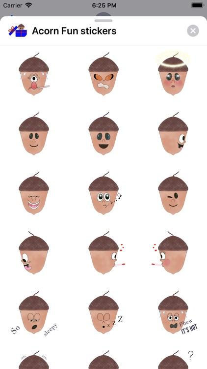 Acorn Fun stickers