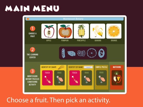 Montessori Parts of Fruits screenshot 14