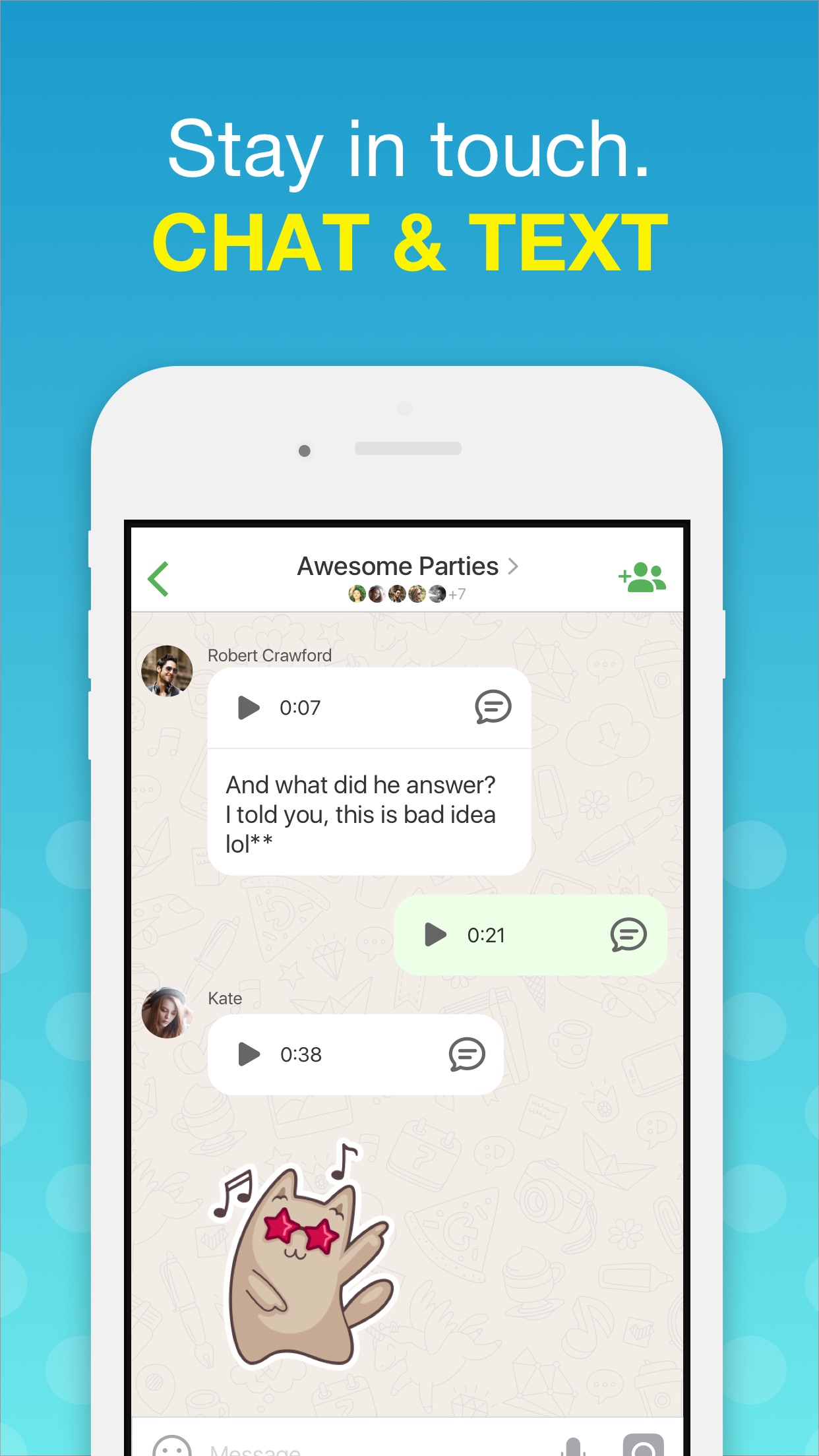 Video Calls & Chat – Agent Screenshot
